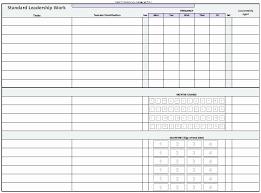 Standard Work Templates Standard Work Template Excel Stcharleschill Template