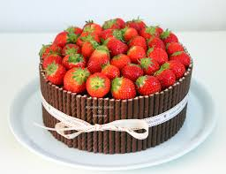 Strawberry Chocolate Bombdevil S Food Cake Filled With Chocolate