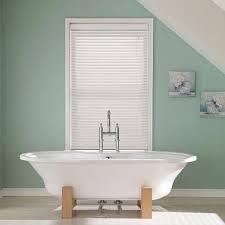 bathroom wooden blinds