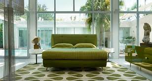 white and lime green living room rug