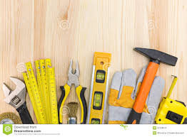 construction tools background. royalty-free stock photo. download construction tools on wooden background n