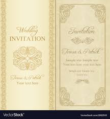 Baroque Wedding Invitations Baroque Wedding Invitation Gold Royalty Free Vector Image
