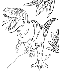 Small Picture Free Tyrannosaurus Rex Coloring Page