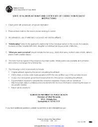 Illinois Correction Of - Pdfsimpli Request Affidavit Certificate And