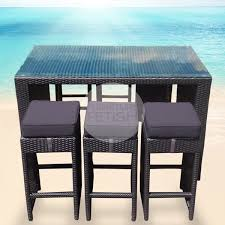 wicker bar set black wicker