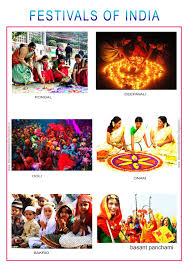 Photo Chart Of Indian Festivals Education Help Online Indian Festivals Picture Chart For