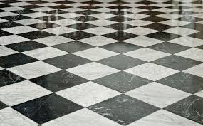 Black and White Marble Floor Stock Photo - 5168020