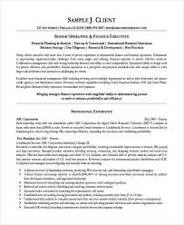 Financial Resume Template Impressive 28 Finance Resume Templates PDF DOC Free Premium Templates