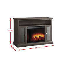 com pleasant hearth 23 inch riley espresso a electric fireplace home kitchen