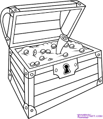 Treasure Chest Coloring Page 2771241