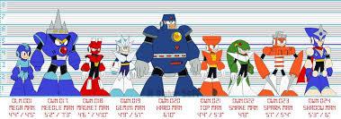 Mega Man 6 Weakness Chart Mega Man 3 Size Chart By Msipher Mega Man Mega Man 3