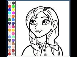 Small Picture Anna Coloring Pages For Kids Anna Coloring Pages YouTube