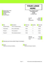Example Of A Invoice Sample Invoices Created With Our Online Invoicing Software