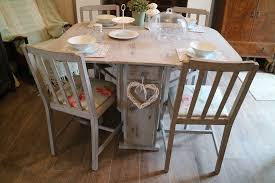Home Design : Engaging Shabby Chic Dinner Table Dining Room