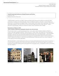 Graphic Design University In Italy International Travel Awards Shushi Yoshinaga Assistant