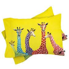 Zoomie Kids Korey Giraffes Pillowcase | Wayfair