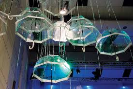 umbrella chandelier