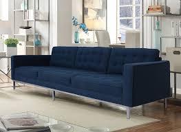 captivating living room design tufted. Attractive Navy Blue Sofa For Your Living Room Design: Modern Linen Upholstered Button Tufted Captivating Design E