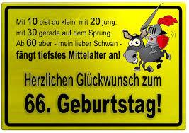 Gelbes Schild Mit Esel Und Ritter Zum 66 Geburtstag
