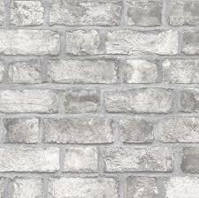 old gray brick wall wallpaper faux
