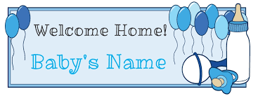 Welcome Home Baby Boy Banner Well Known Welcome Home Baby Boy Banner Gj44