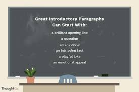 exles of great introductory paragraphs