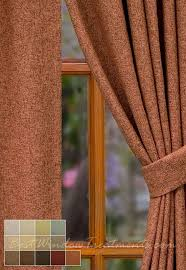 paprika burnt orange rust curtain panels with a wool linen blend with grommets
