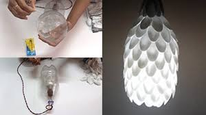 how to make lamp with plastic spoons step by step tutorials