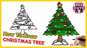 สอนวาดต้นคริสต์มาสแบบง่ายๆ | วาดรูป ระบายสี ต้นคริสต์มาส วันคริสต์มาส | How  to draw Christmas Tree - YouTube
