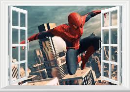 free spiderman 3d window wall