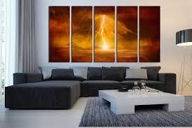 piece huge canvas print abstract canvas art prints orange wall