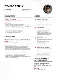 Resume Template For Internship The Ultimate Marketing Format Guide For 2019 Builder Example