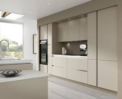 Details About  Piece Kitchen Units Warm Grey Handless Kitchen - Fitted kitchens
