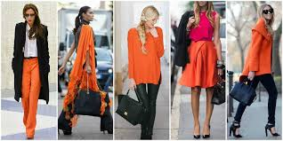 Orange and Black Colour Combinations
