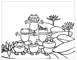 A frog is a small animal characterized a plump body and protruding eyes. Free Printable Frog Coloring Pages For Kids
