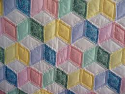 Baby Block Quilt Patterns Simple Pattern For Tumbling Blocks Baby Quilt Cafca Info For