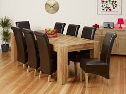 8 seat dining table stylish solid oak extending dining table and 6 chairs