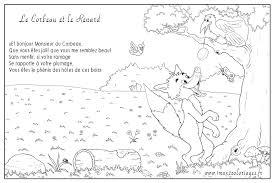 Dessin A Colorier Du Corbeau Et Le Renard L Duilawyerlosangeles