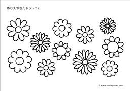 印刷可能無料 花のぬりえ 無料の印刷用ぬりえページ
