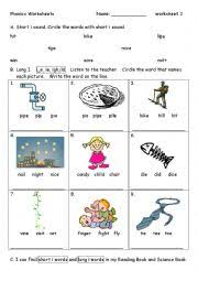 These printable worksheets are perfect for beginners who are just starting to learn the sounds each letter makes. Phonics Worksheet 3 I I E Ie Igh Ild Esl Worksheet By Vickylin731
