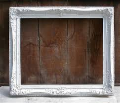 white antique picture frames. Old Wood Picture Frames | LARGE Antique Upcycled White Distressed Frame By LoveliesShop Q