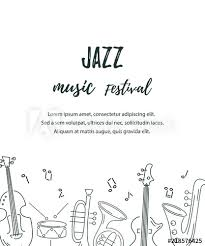 Concert Invite Template Template For Music Festival Jazz Party Invitation