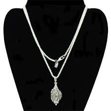 1928 pendant necklace ornate silver tone decorative egg shape with touch of gold used