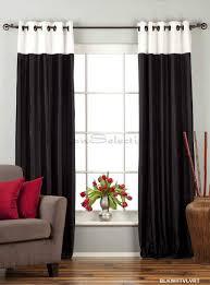 Black And White Curtain Designs Black And White Designer Velvet Drapery Curtains Panels