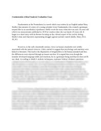 frankenstein critical analysis evaluation essay essay brokers