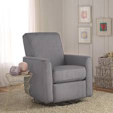 Swivel Recliner Chairs For Living Room Zoey Grey Nursery Swivel Glider Recliner Chair Nice Shopping