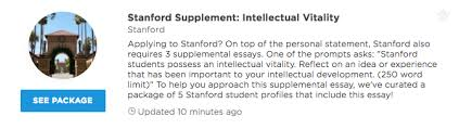 stanford intellectual vitality supplemental essay examples  our premium plans offer different level of profile access and data insights that can help you get into your dream school unlock any of our packages or