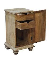 mango nightstand with swinging door and