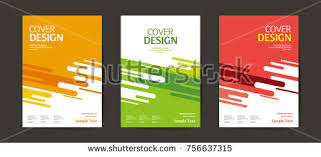 book cover annual report design layout brochure catalog business vector template