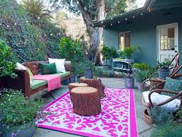 bohemian outdoor rug pink